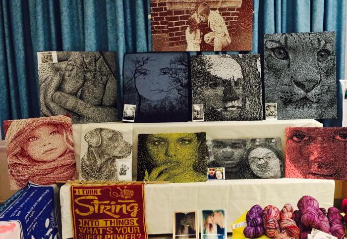 display my knitted pictures